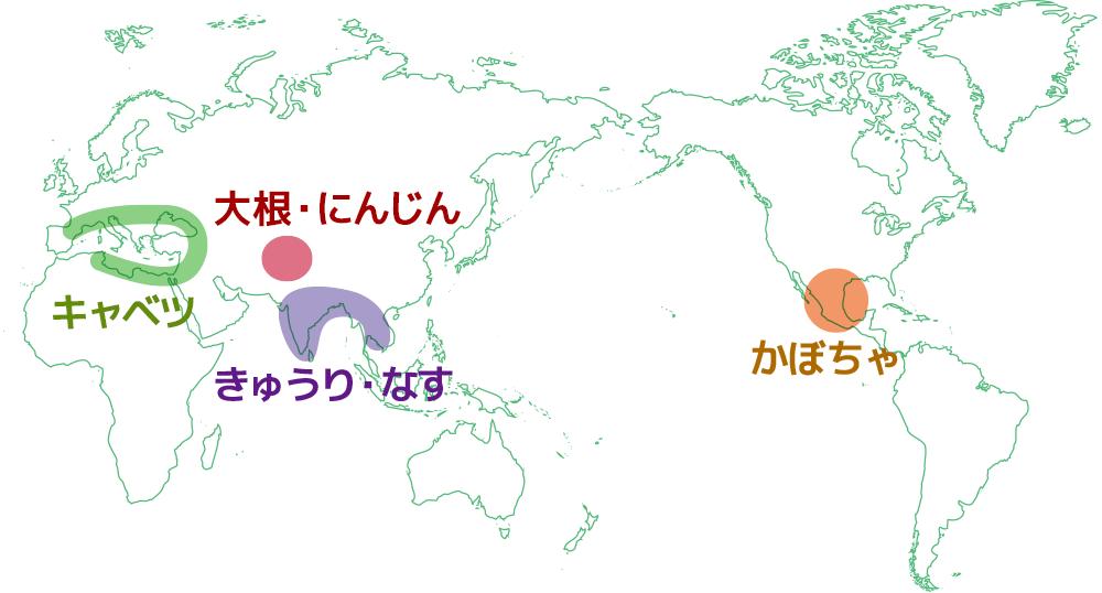野菜の原産地